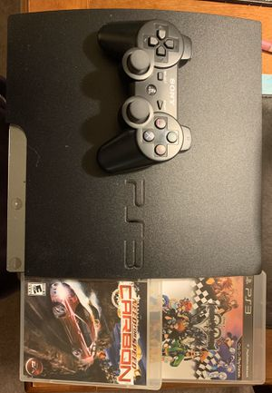 PS3 System with 1 Controller and 2 Games Kingdom Hearts for Sale in Las Vegas, NV