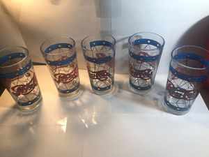 Stained glass pepsi-Cola glasses set of 5 for Sale in Lehigh Acres, FL