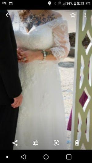 Wedding Dress W/ Peticoat or hoop for Sale in Jefferson City, MO