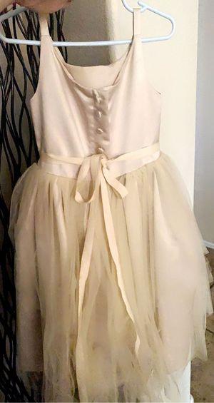 Flower girl dress Color champagne for Sale in Avondale, AZ