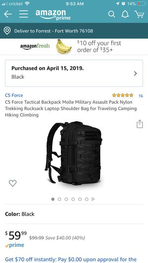 Tactical Backpack for Sale in Fort Worth, TX