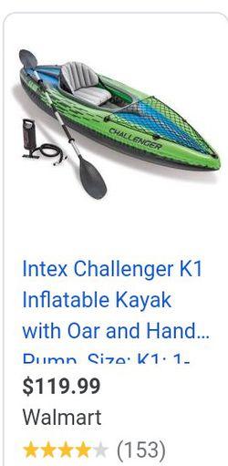 Intex Challenger K1 Inflatable Kayak for Sale in Edmonds,  WA