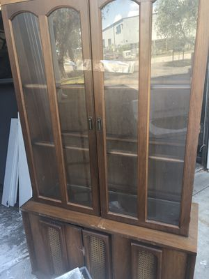 Vintage glass front hutch Great condition top glass display and bottom shelves for Sale in Venice, FL