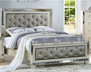 Same Day Local Delivery Available 🛑 New Mirror Queen Bed Frame Only In Box 📦 for Sale in Burbank, CA