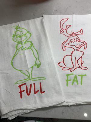 Grinch Fat & Full Kitchen Towels for Sale in Murfreesboro, TN
