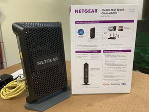 Netgear cm600 cable modem for Sale in Evanston, IL