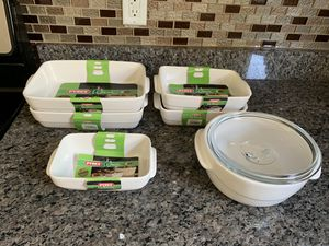 Pyrex wave rectangular bowls for Sale in Fairfax, VA