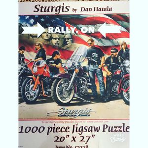 """Sturgis Motorcycle Rally 1000 Piece Puzzle 20"""" x 27"""" Dan Hatala New Sealed . Condition is New. Shipped with USPS Priority Mail. for Sale in Oskaloosa, IA"""