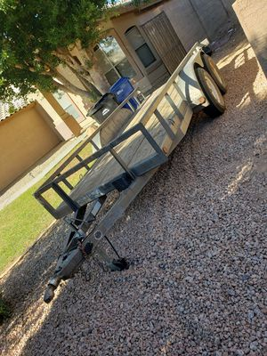 Load Trail 14k lb Flat Deck Trailer 5x14ft (no title) for Sale in Mesa, AZ