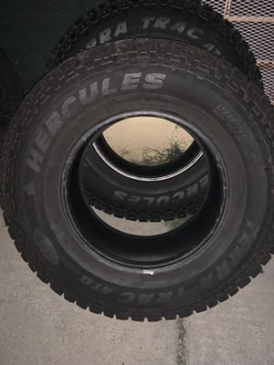 285/70/17 hercules tera trac at2 load range e tires for Sale in Los Angeles, CA