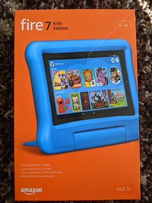 "Amazon Fire 7 Kids Edition Tablet 7"" Display (9th Generation, 2019 Release) - Blue - 16GB for Sale in Modesto, CA"