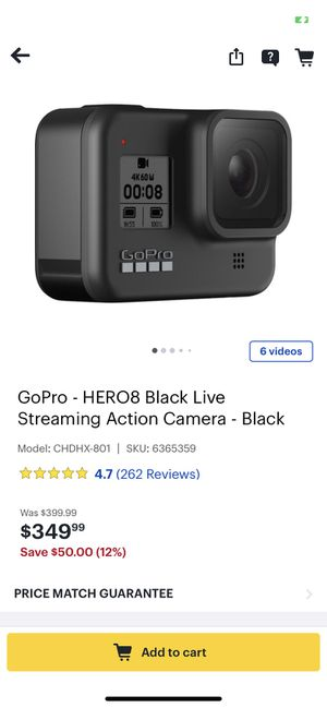 GoPro 8 with accessories for Sale in Spring, TX
