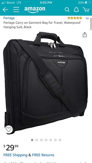 Carry On Garment Bag for Sale in National City, CA
