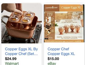 Copper chef egg XL for Sale in West Sacramento, CA
