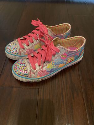 Girls skechers lights shoes size 4 like new conditions for Sale in Canby, OR