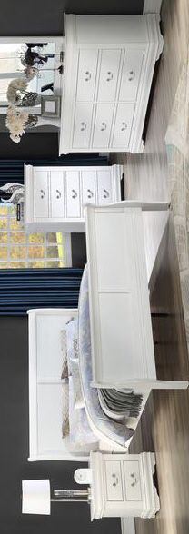 [HOT DEAL] Louis Philip White Sleigh Bedroom Set. Dresser Mirror Nightstand bed frame queen 4 piece for Sale in Houston, TX