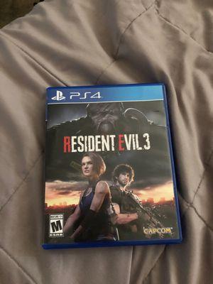 Resident Evil 3 PS4 for Sale in Irving, TX