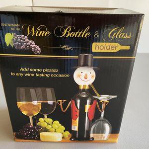 Wine Bottle & Glass Holder for Sale in Lancaster, CA