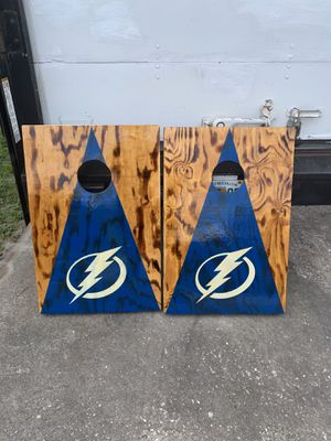Lightning corn hole boards for Sale in Fort Meade, FL