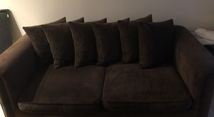 Z Gallerie Mahogany Couch and Oversized Chair Set for Sale in Atlanta, GA