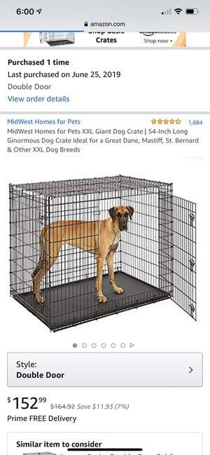 Xxl dog crate 2 doors for Sale in Leesburg, VA