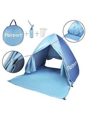 FBSPORT Beach Tent, UV Protection Pop Up Sun Shelter Lightweight Beach Sun Shade Canopy Cabana Beach Tents Fit 2 Person for Sale in Raleigh, NC