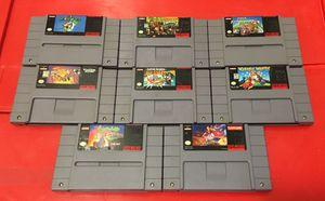 Classic Super Nintendo games for SNES system vintage for Sale in Atlanta, GA