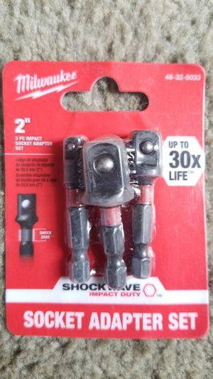 Milwaukee Shockwave Socket Adapter kit for Sale in Manassas, VA