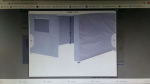 Full Zippered wall ONLY for 10x10 pop Up Canopy Tent w Window NEW for Sale in Goodyear, AZ