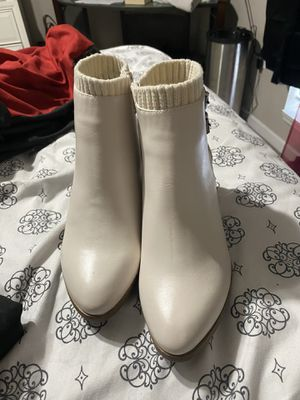 White/Brown Booties for Sale in Denham Springs, LA