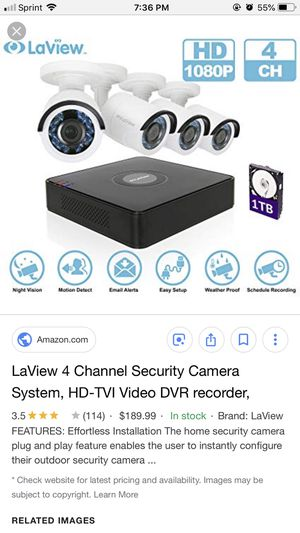 LaView Security Cameras for Sale in Rock Island, IL