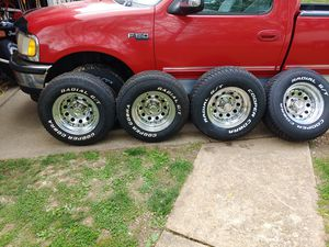 15×10 american racing wheels with new tires for Sale in St. Louis, MO