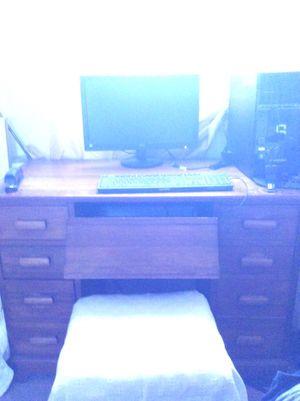 Antique wooden desk for Sale in Torrance, CA