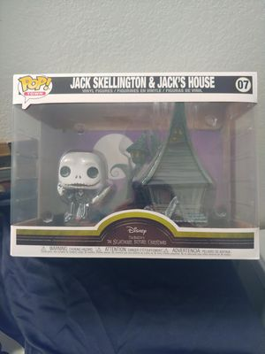 The Nightmare Before Christmas Jack Skellington & Jack's house Pop Funko. for Sale in Chandler, AZ