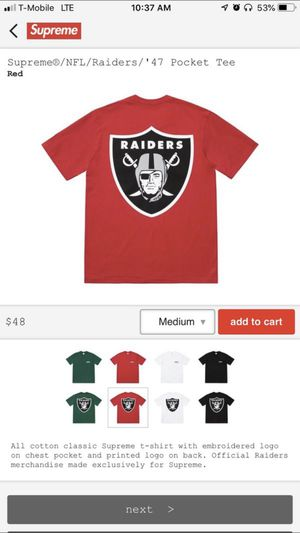 Supreme SS19 NFL Raiders '47 Pocket Tee for Sale in Franklin, TN