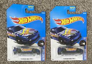 New In Box Set of 2 Hot Wheels Metal Kids Toddler Junior Boys 96 Nissan 180XS Type X Toy for Sale in Chapel Hill, NC