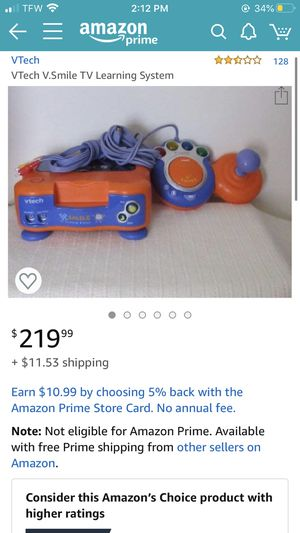 Vtech V smile v tech game system with controllers and 3 games for Sale in Seattle, WA
