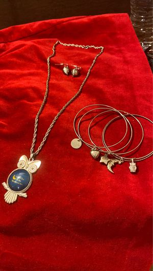 I love you to the moon 🌚 and back 🦉 Necklace With bracelet and earrings for Sale in Houston, TX