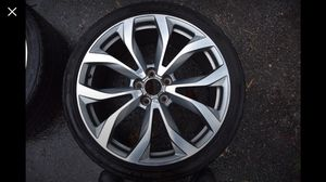 "Set of 4x Audi OEM 20"" 5-Double-Spoke Alloy Wheels WITH FREE 18"" rims too! for Sale in Wayland, MA"