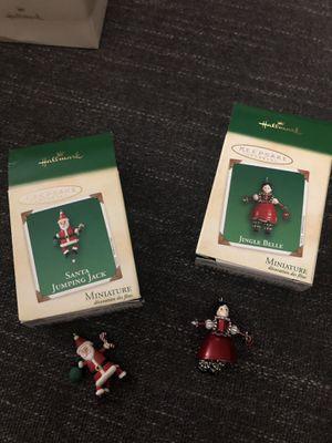 2 hallmark miniature ornaments for Sale in San Lorenzo, CA