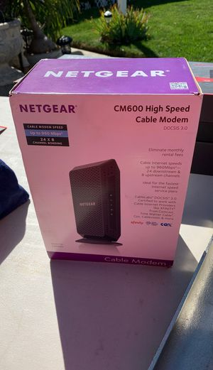 Net gear high speed cable modem for Sale in San Marcos, CA