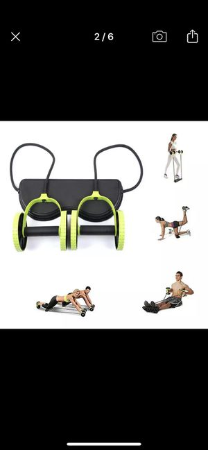 Full body workout home gym abs rollers/dumbbells on resistance bands brand new in box for Sale in Hollywood, FL