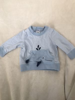 Carters baby boy 3month whale sweater for Sale in Fresno, CA