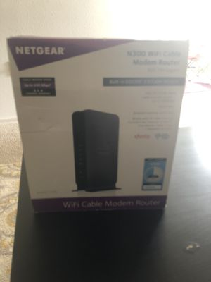 NETGEAR N300 WiFi Cable Modem Router for sale for Sale in Herndon, VA