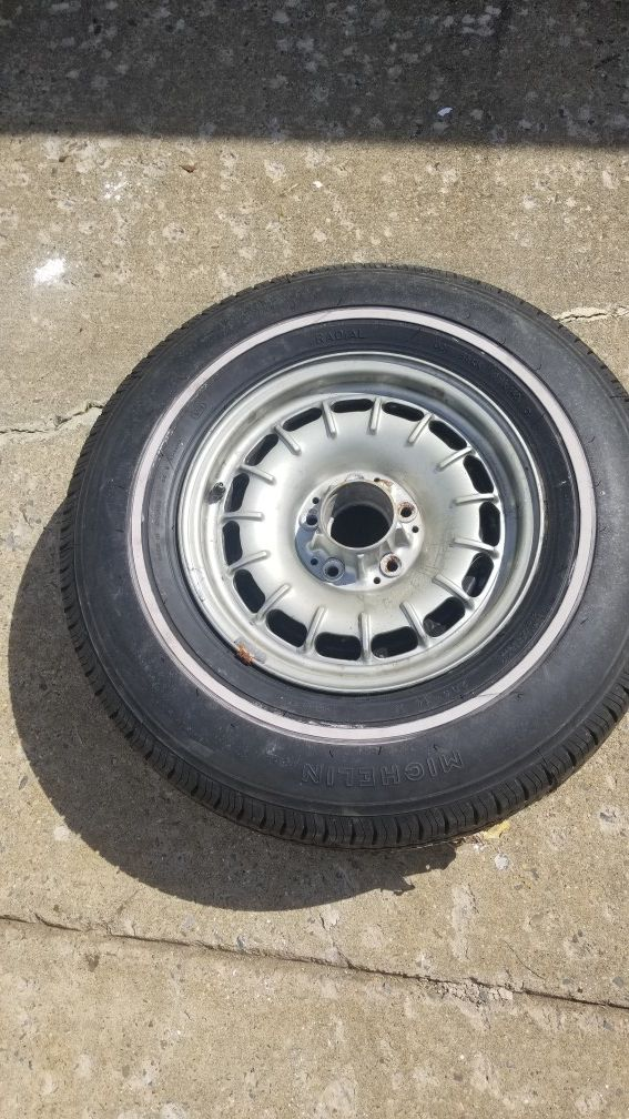 Brand new tire and rimn1978 mercedes benz rim