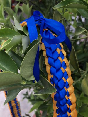 Royal Blue and Gold Graduation lei or white coat ceremony lei for Sale in El Monte, CA