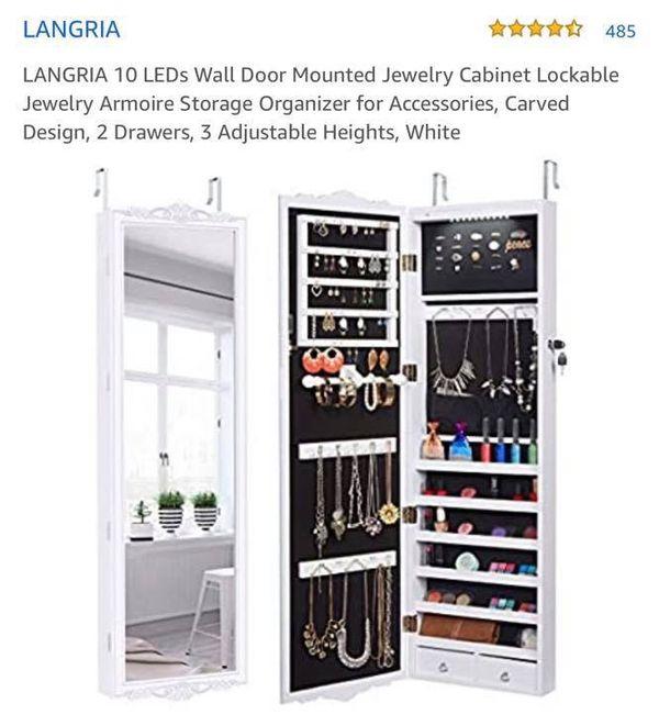 Jewelry mirror cabinet
