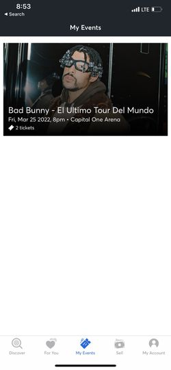 Bad Bunny Tickets  for Sale in Cockeysville, MD