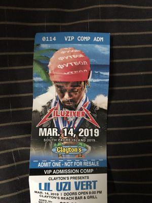 Lil Uzi Vert VIP Ticket for Sale in Brownsville, TX