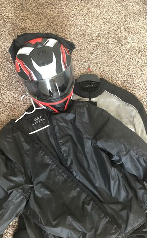 Motorcycle jacket and helmet brand new never been worn! for Sale in Wichita Falls, TX